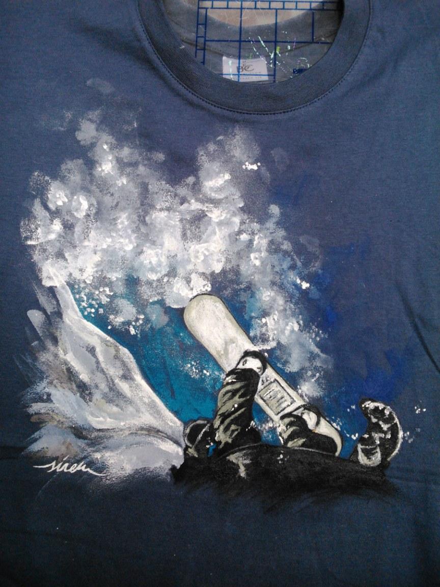 snow_sirem_camiseta pintada a mano