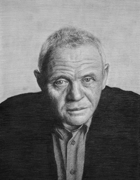 Anthony Hopkins_dibujo grafito