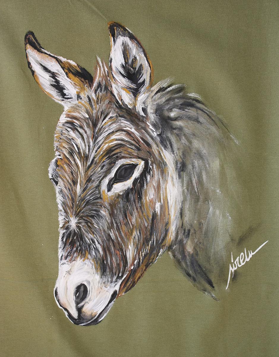 burro_camiseta pintada a mano_sirem